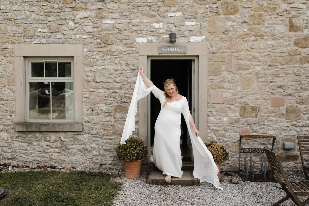 Lauren-Peak-District-Bespoke-Wedding-Gown-Petal-Veil-Train-Long-Sleeve-Susanna-Greening-Designs-Matlock-Derbyshire-18