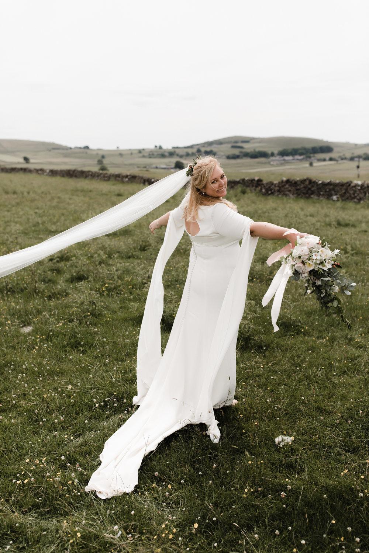 Lauren-Peak-District-Bespoke-Wedding-Gown-Petal-Veil-Train-Long-Sleeve-Susanna-Greening-Designs-Matlock-Derbyshire-19