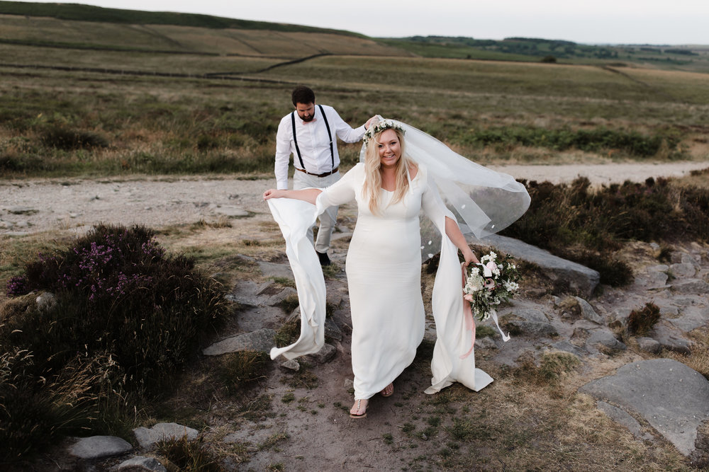 Lauren-Peak-District-Bespoke-Wedding-Gown-Petal-Veil-Train-Long-Sleeve-Susanna-Greening-Designs-Matlock-Derbyshire-24