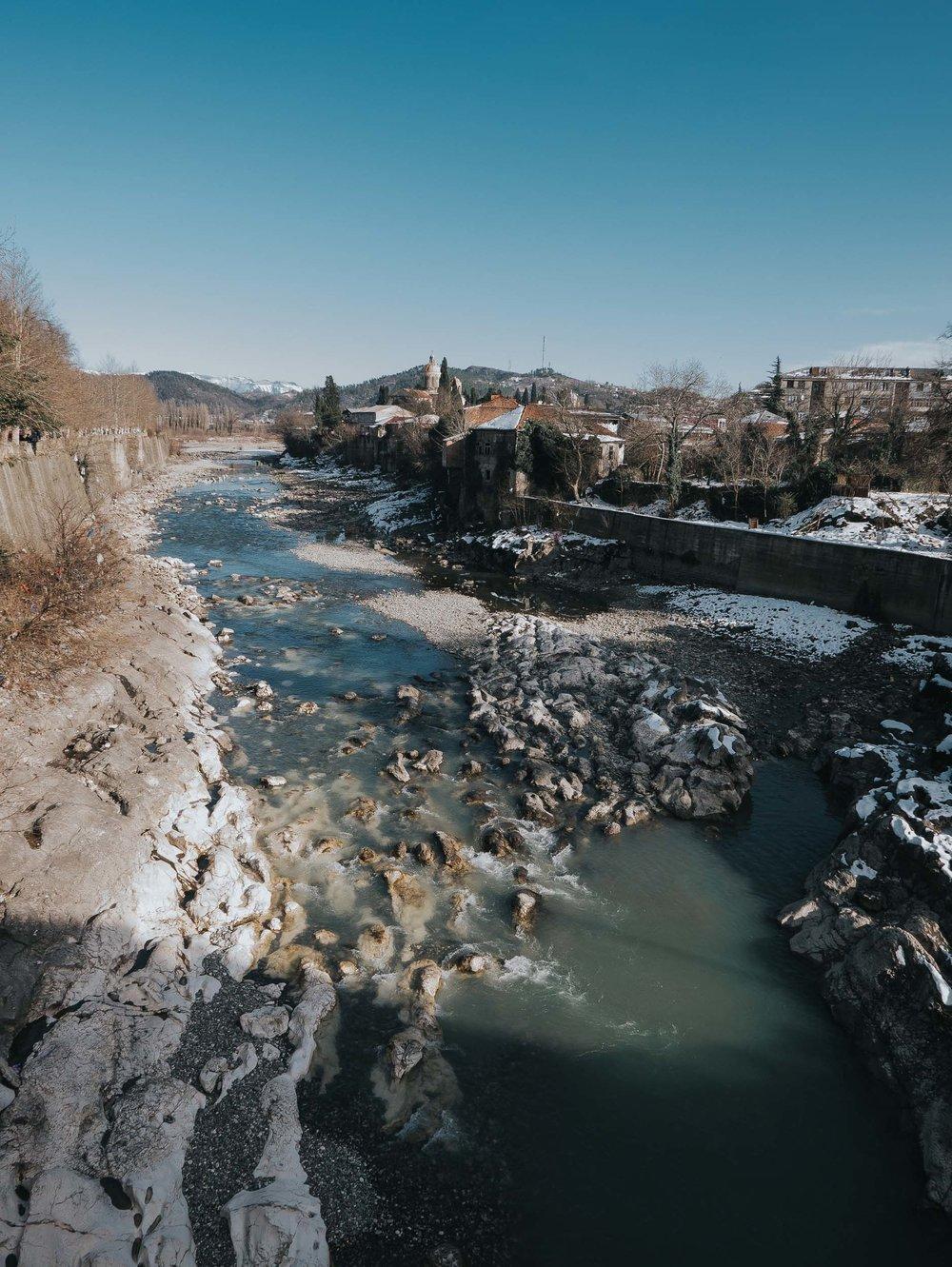 Rioni River, Kutaisi, Georgia