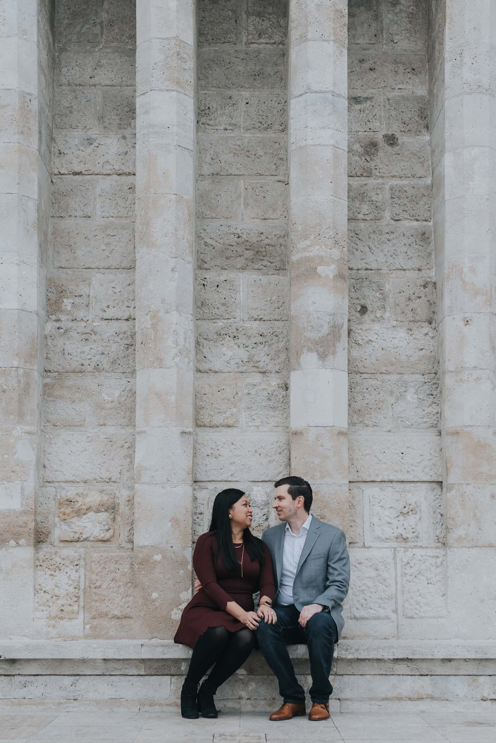 Budapest photographer - engagement photography at Fisherman's Bastion