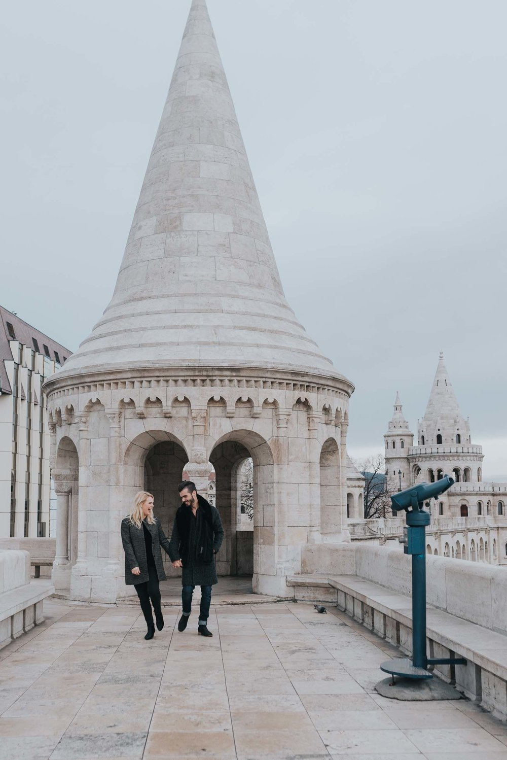 Budapest portrait photographer at Fisherman's Bastion