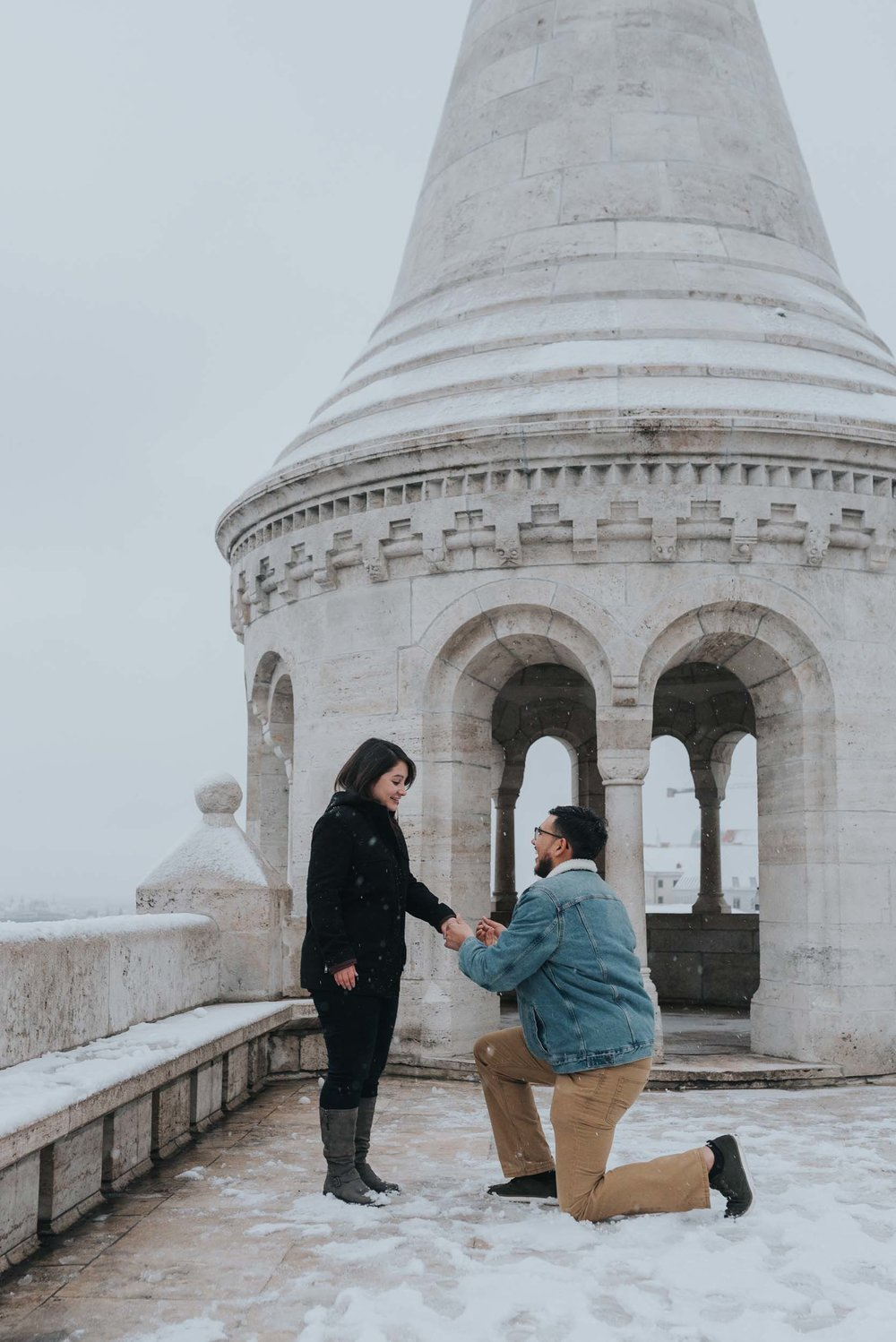 Budapest proposal photographer Fisherman's Bastion