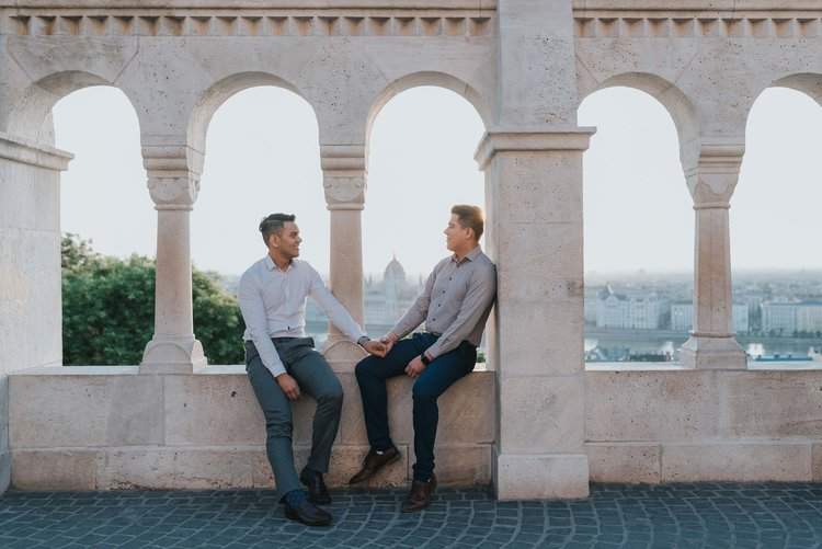 Fisherman's Bastion proposal photographer