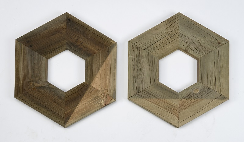 Eric Garduño, Green Hexagon (Diptych), 2016