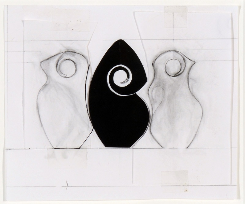 Christine Nofchissey McHorse, Untitled Drawing (Spiral Triptych), 2012