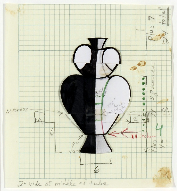 Christine Nofchissey McHorse, Untitled Drawing (Double Handle), 2001