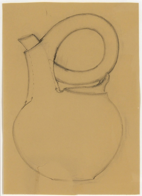 Christine Nofchissey McHorse, Untitled Drawing (Black Teapot), 2010