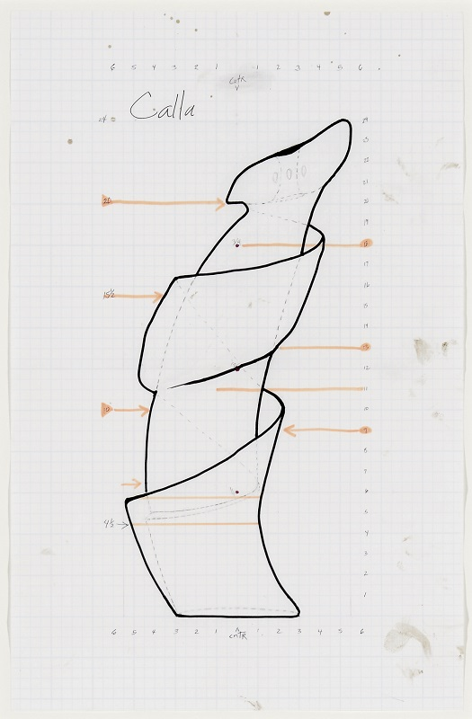 Untitled Drawing (Calla), 2016