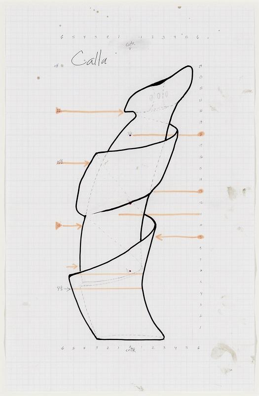 Christine Nofchissey McHorse, Untitled Drawing (Calla), 2016