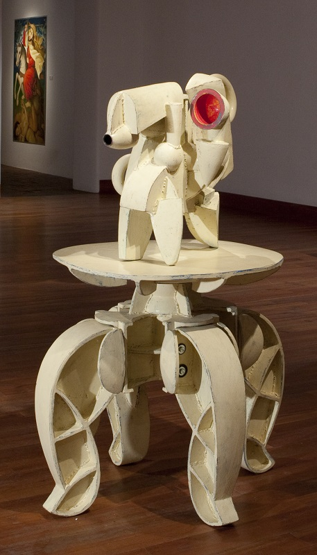Doug Herren, Ivory Industrial Ewer (top); Ivory Table Stand (bottom), 2013