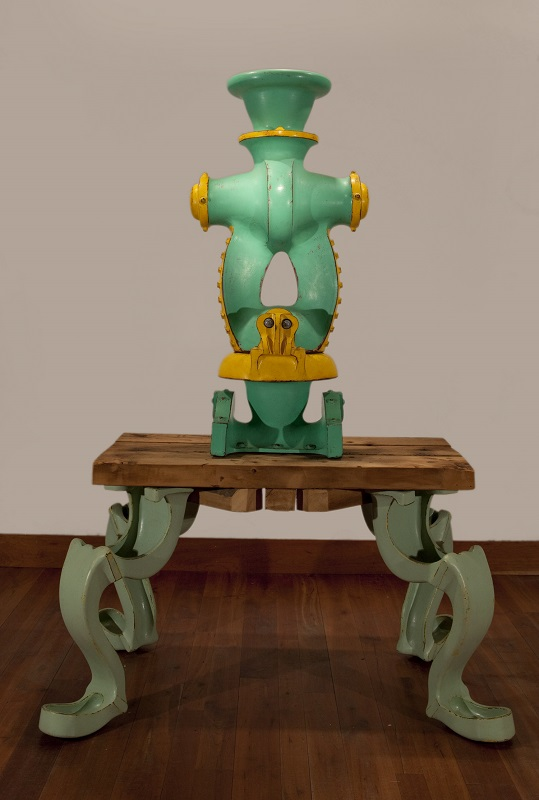 Doug Herren, Aqua Compressor (top); Aqua Table (bottom), 2008
