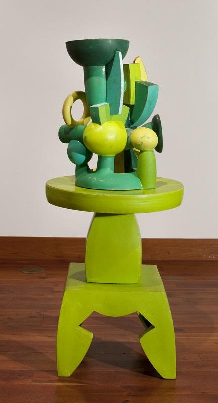 Doug Herren, Green Vase Cluster (top); Green Table Stand (bottom), 2016