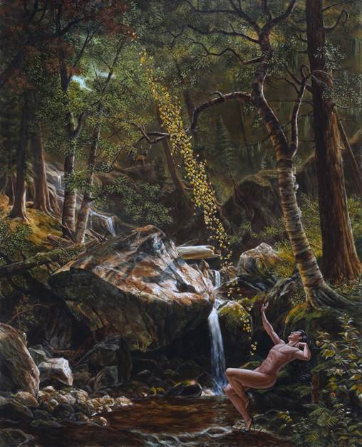 Kent Monkman, Danaë Receiving the Golden Rain, 2015