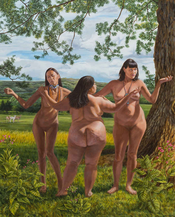 Kent Monkman, The Three Graces, 2017