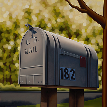 Kenton Nelson, 182 Woodbine Dr. (de Kooning's Mailbox)