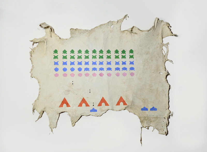 Nicholas Galanin, Space Invaders, 2013