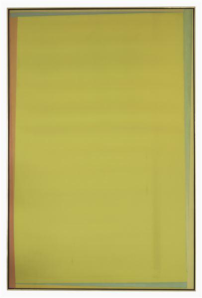 Larry Zox, Loftin Basin, 1973, acrylic on canvas, 77 x 50 ¾ inches