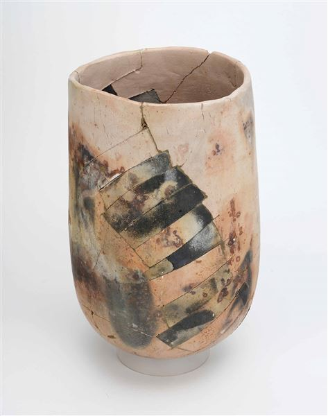 Rick Dillingham,  Untitled (Nov 75-1) , 1975, raku, 13 ¾ x 9 x 9 inches