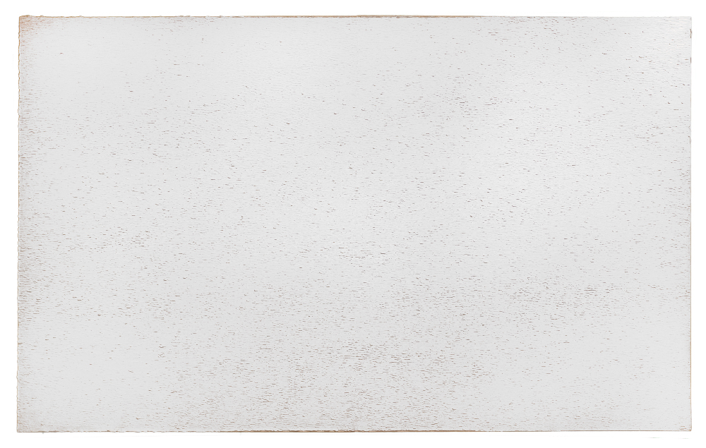 David Budd, Silver-Gray, 1976, oil on canvas, 78 x 126 inches