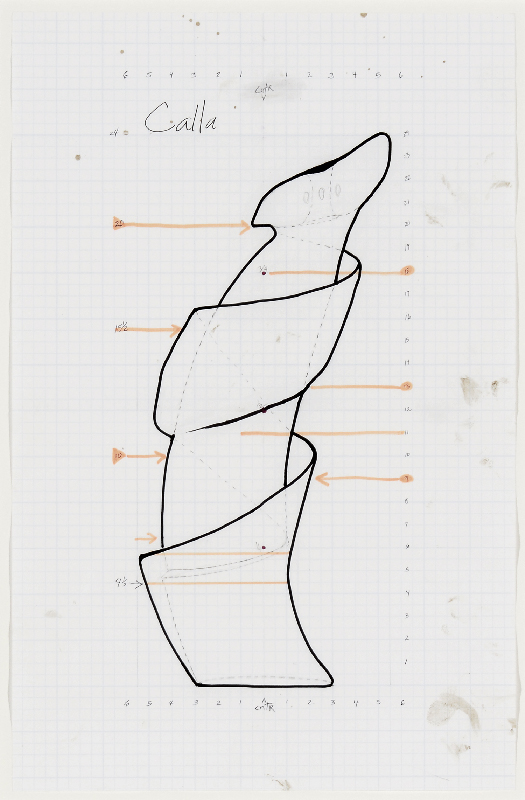 Christine Nofchissey McHorse, Untitled Drawing (Calla), 2016