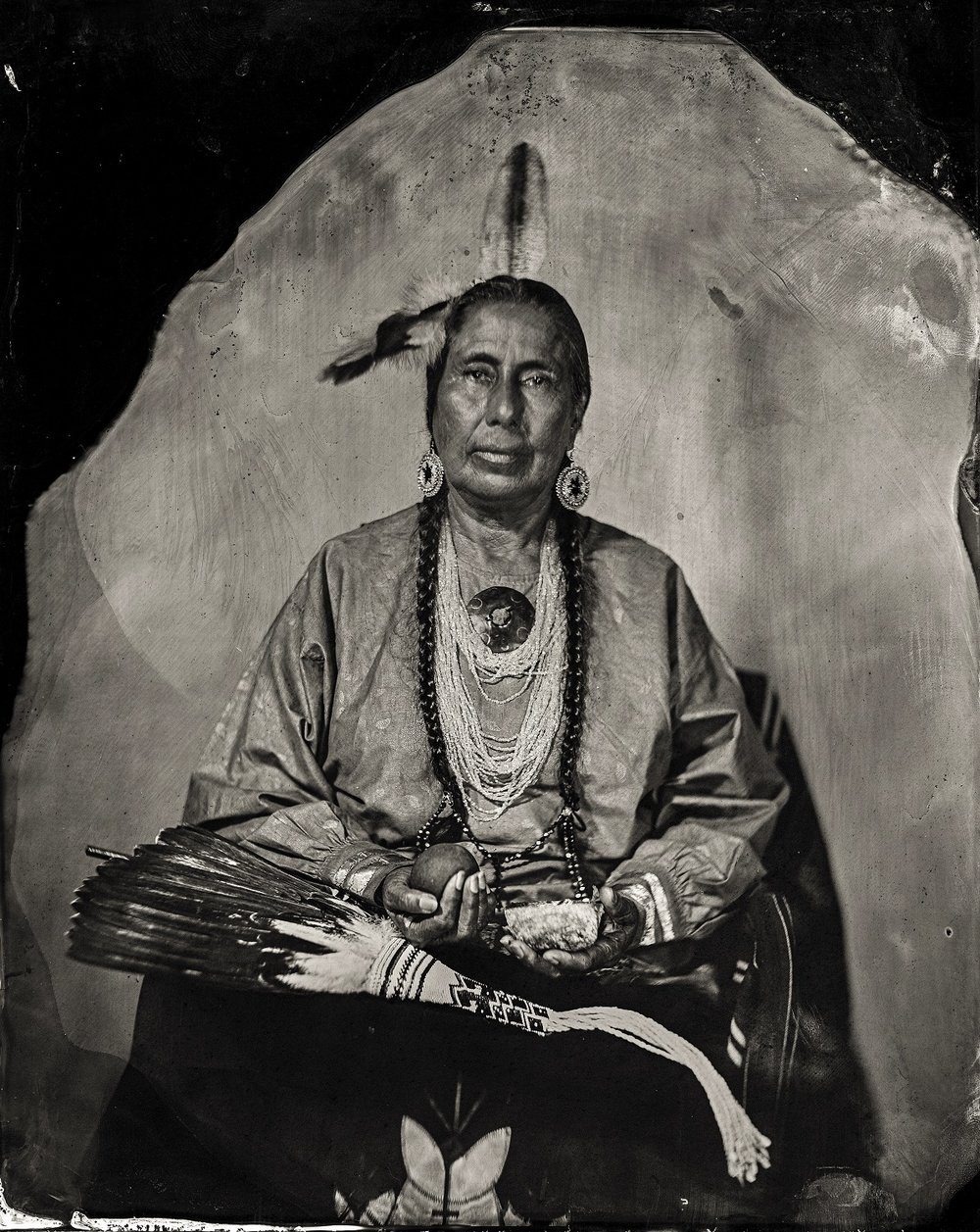Will Wilson, Casey Camp Horinek, citizen of Ponca Tribe of Oklahoma, 2016