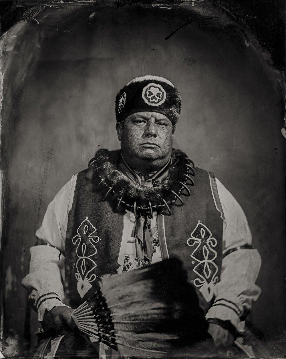 Will Wilson, Chairman John Shotton, citizen of Otoe-Missouria Tribe and affiliated Iowa, 2016