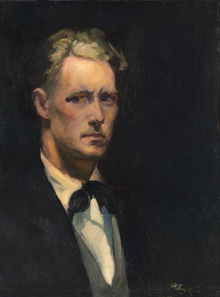 Willard Nash, Self Portrait - Early