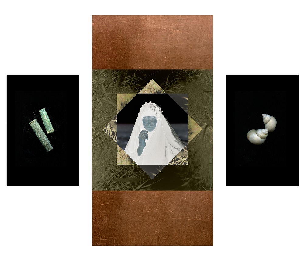 Temple of Inanna, with Shells and Shells #1 (Triptych), 2017