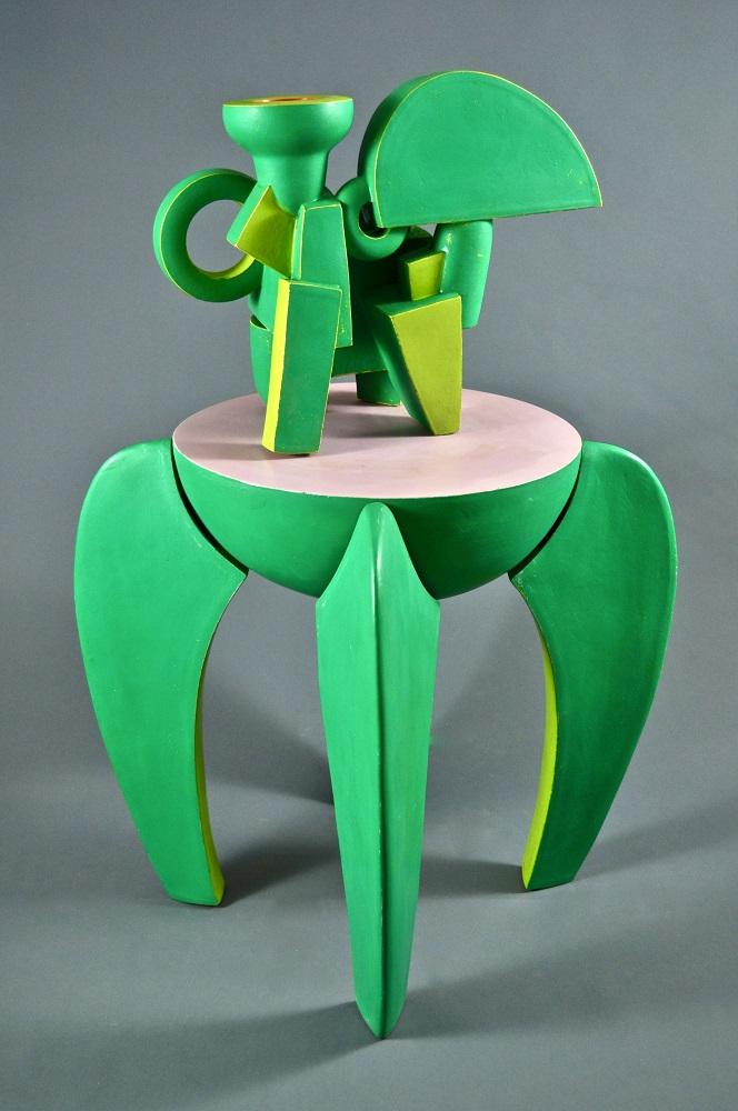 Green Chromatic Ewer & Green Stand