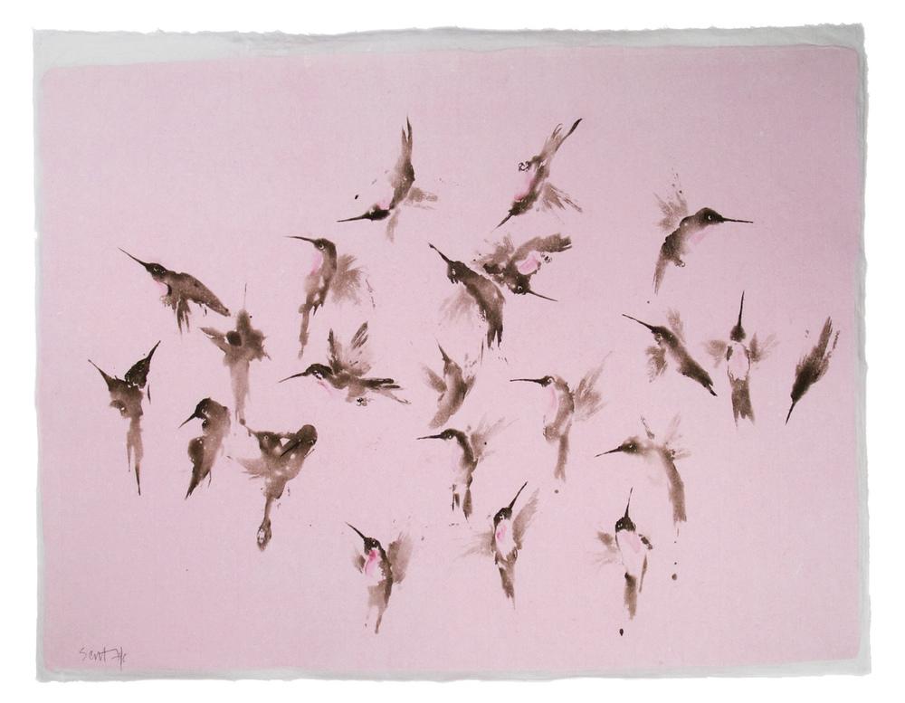 HUMMINGBIRD    (pink)