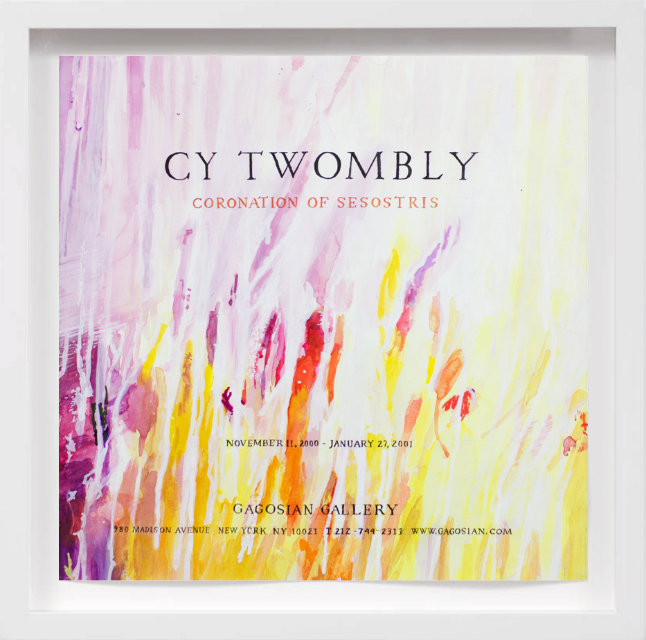 Cy Twombly (2001)   2017,  SOLD