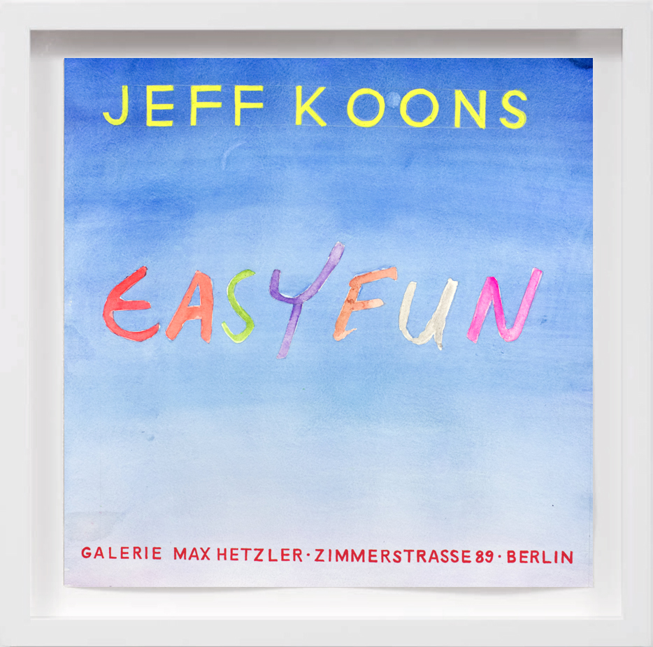 Jeff Koons (2001)   2017,  SOLD