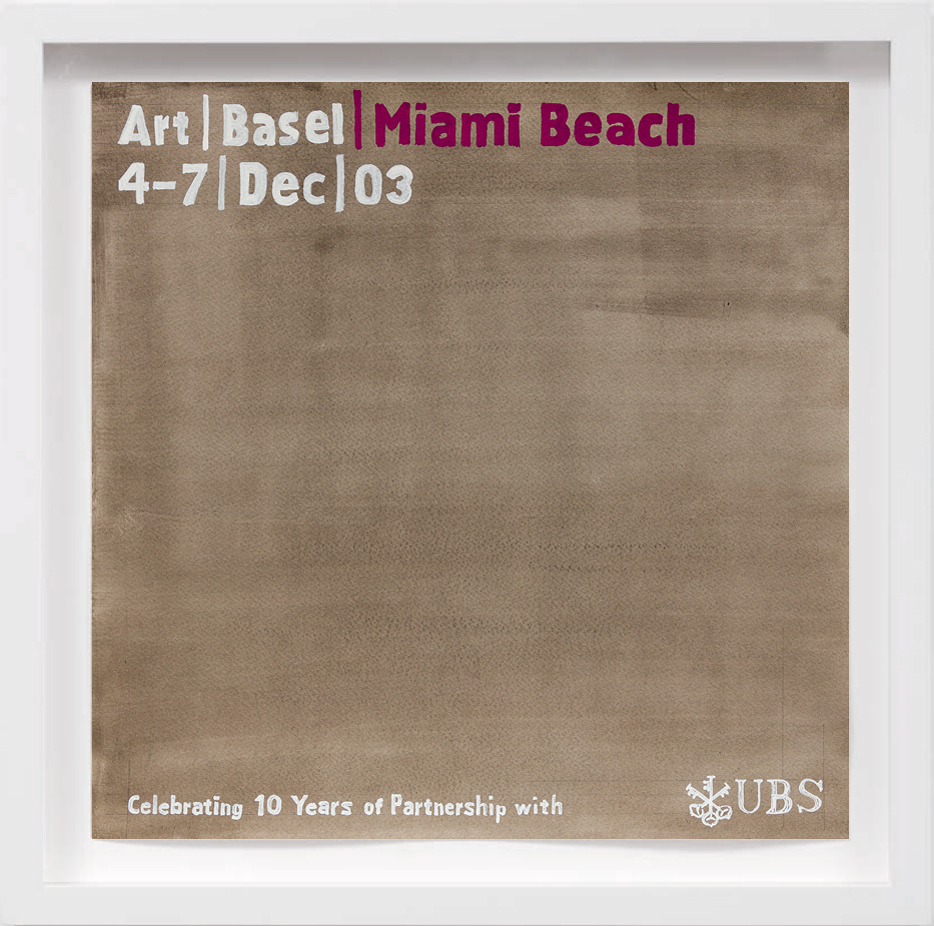 Art Basel Miami Beach (2003)   2017,  SOLD