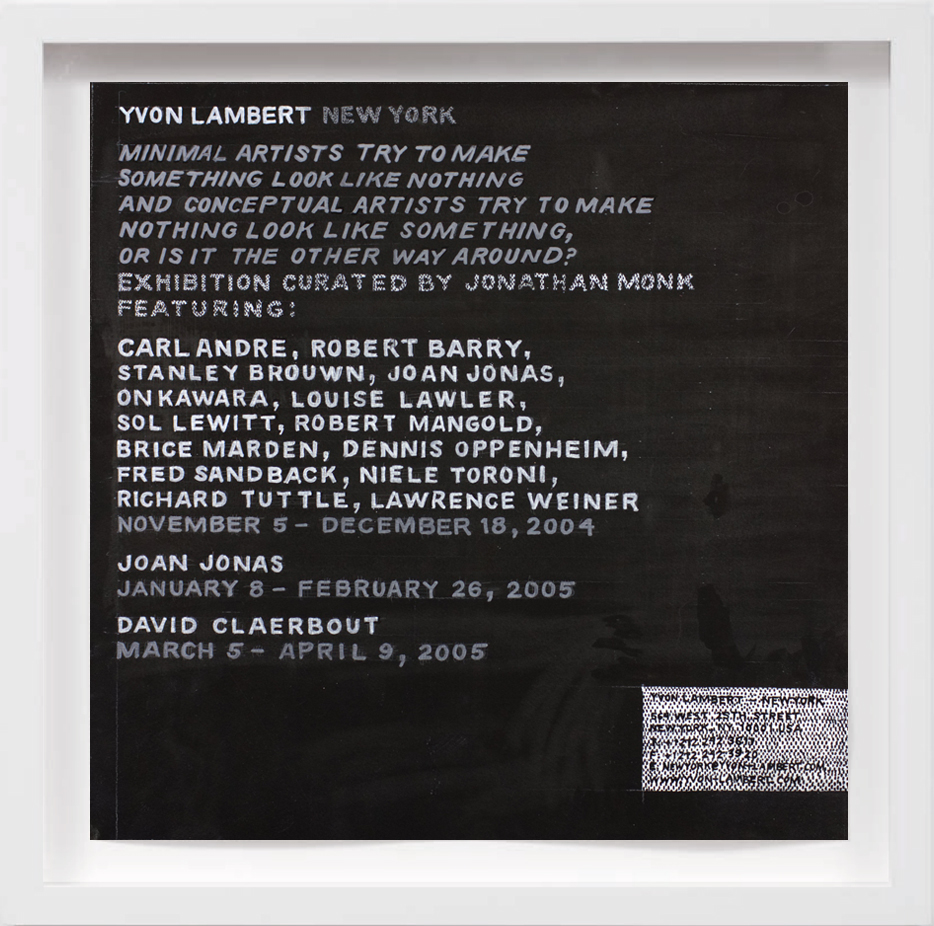 Yvon Lambert (2004)   2017, Available