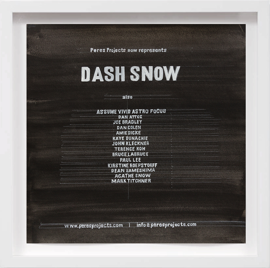 Dash Snow (2008)   2017, Available