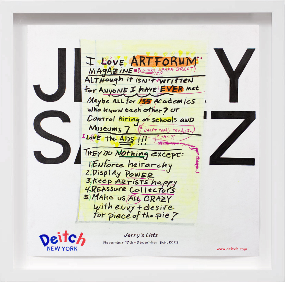 Jerry Saltz (2023)   2018,  SOLD