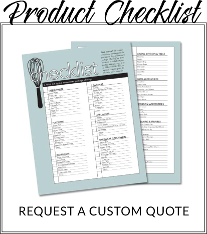 Housewares Product Checklist