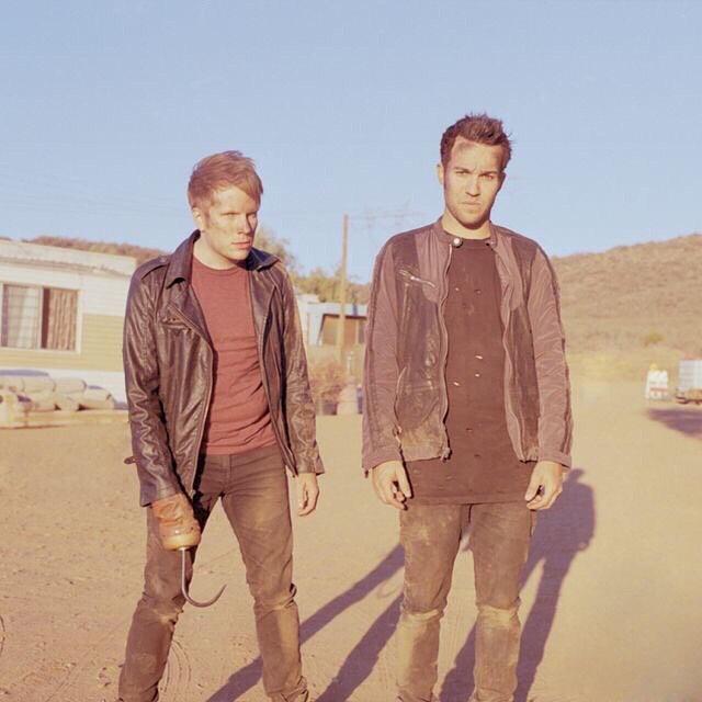 from the archives @falloutboy on set in the desert for the #missmissingyou music video california, 2013 shot on @kodak portra