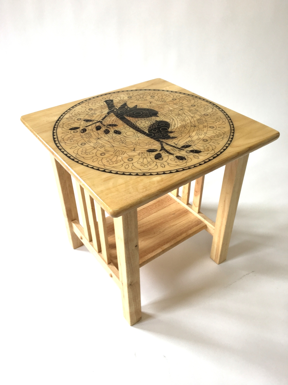 Bird Silhouette End Table $350