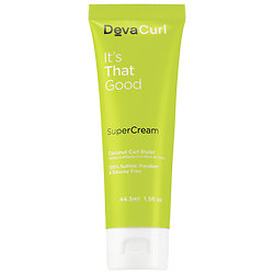 DevaCurl SuperCream™ Coconut Curl Styler deluxe sample  1.5 oz $8.24   Code: CURLTHING Released: 5/17/16    Full Size 5.1 oz $28