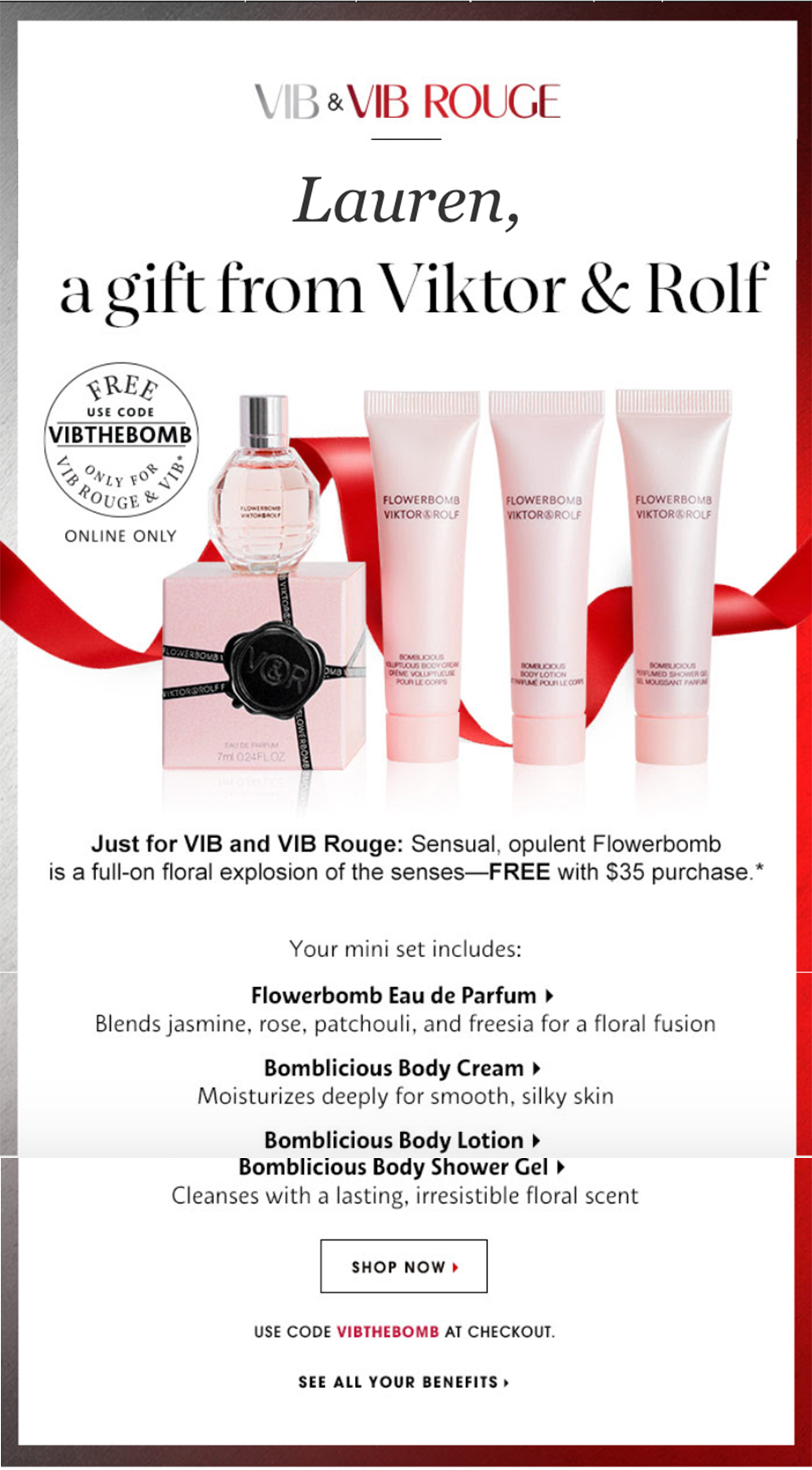 Sephora VIB and VIB Rouge Only Gift With Purchase Coupon Codes ...
