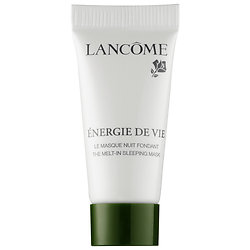 Lancôme Energie de Vie the Melt-In Sleeping Mask deluxe sample  0.16 oz $4  Code: LETSMASK Released: 5/18/16   Full Size 2.6 oz $65