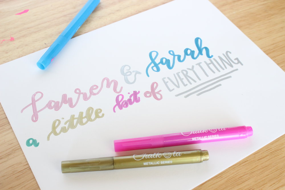 A handlettering demo sample