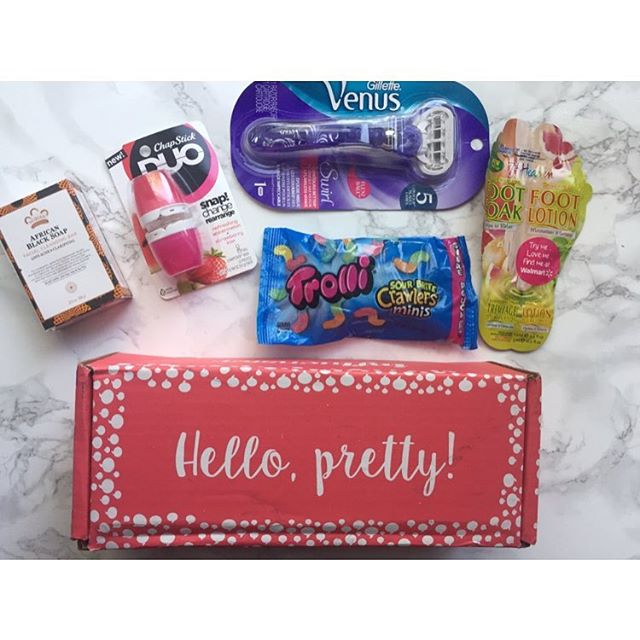 So excited about all these new products! @influenster sent us these for free to review. Yippee!@gillettevenus @chapstick @trolli_usa #influenster #freeforreview