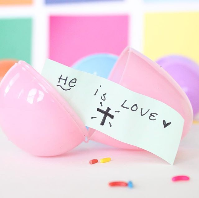 Remember why we celebrate Easter today. 💜 #easter #happyeaster #heisthereason #jesus #heisthereasonfortheseason #eastersunday #eastereggs #eggs #pastel #color #colors #sprinkles #cross #heart #handwriting #heislove