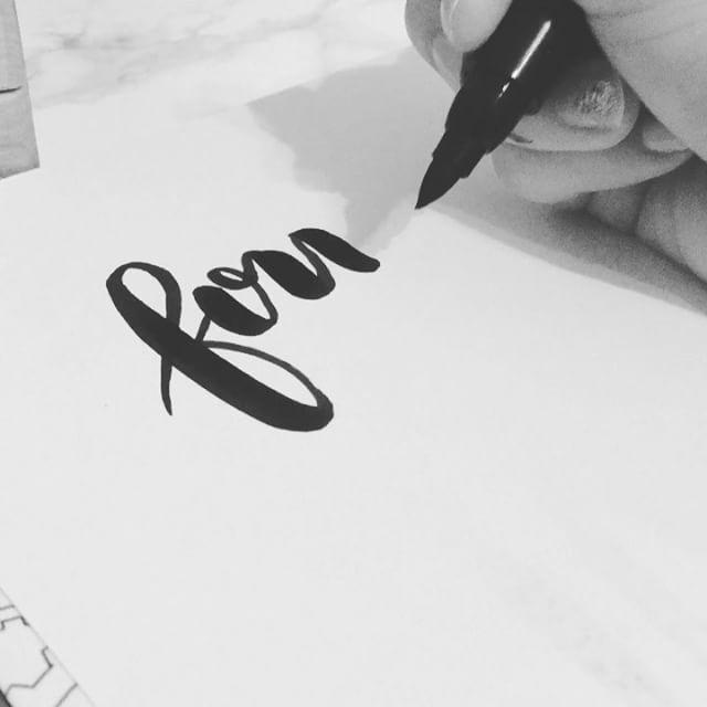 Happy Fourth of July! 🇺🇸🎉#calligraphy #calligraphyvideo #ink #brushlettering #brushcalligraphy #brushpen #fourthofjuly #blackandwhite #cursive #creative #art