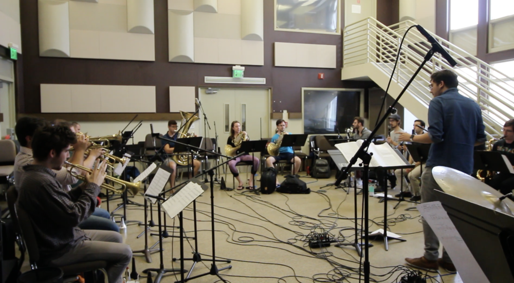 - CMA conducting his piece for a Frost CJB recording session