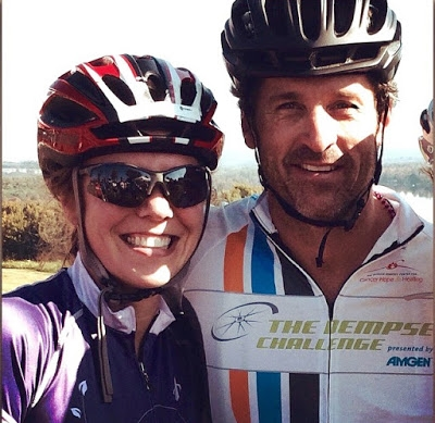"""I stopped to """"smell the roses"""" and view the Fall Foliage at the Dempsey Challenge and I ran into McDreamy himself!"""