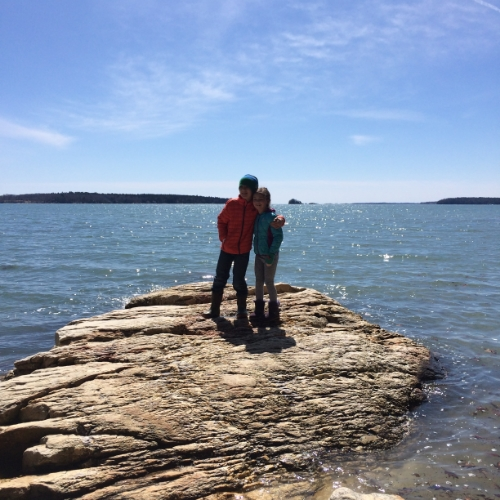 Beautiful Spring Hike with the kids at Wolfe's Neck State Park